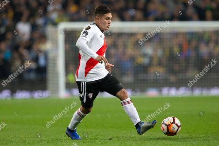 Juan Fernando Quintero during the match between River Plate vs Boca Juniors of 2018 Copa Libertadores final match. Santiago Bernabeu Stadium. Madrid, Spain - 9 DIC 2018.