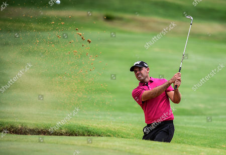 Charl Schwartzel of South Africa plays a shot during the South African Open Golf Championship at the Randpark Golf Club in Johannesburg, South Africa, 08 December 2018.