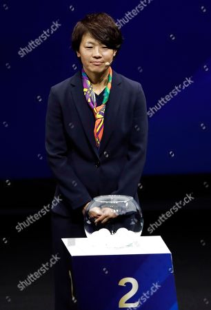 Japan's Aya Miyama attends the women's soccer World Cup France 2019 draw, in Boulogne-Billancourt, outside Paris