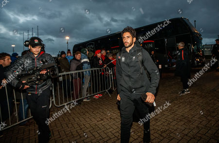 Wasps vs Toulouse. Toulouse's Maxime Mermoz arrives