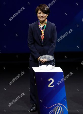 Japanese soccer player Aya Miyama during the draw ceremony for the FIFA Women's World Cup France 2019 in Paris, France, 08 December 2018. The FIFA Women's World Cup will take place from 07 June until 07 July 2019 in France.