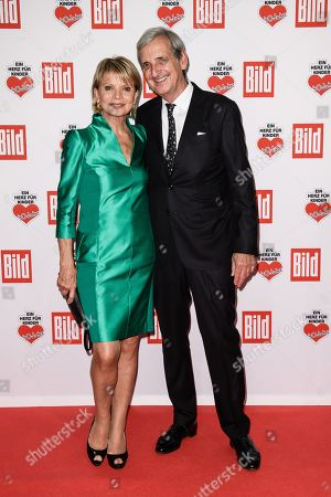 German actress Uschi Glas (L) and her husband Dieter Hermann arrive for the charity gala Ein Herz fuer Kinder (A Heart for Children) in Berlin, Germany, 08 December 2018. German television channel ZDF and newspaper 'Bild' collected donations for children's charity organizations in Germany and the whole world.