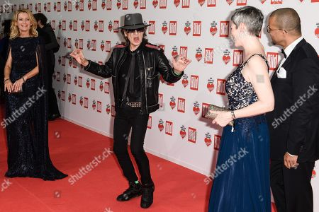 (L-R) German actress Maria Furtwaengler, German musician Udo Lindenberg, American actress Cheryl Shepard and her husband Nikolaus Okonkwo arrive for the charity gala Ein Herz fuer Kinder (A Heart for Children) in Berlin, Germany, 08 December 2018. German television channel ZDF and newspaper 'Bild' collected donations for children's charity organizations in Germany and the whole world.