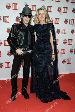 German musician Udo Lindenberg (L) and German actress Maria Furtwaengler arrive for the charity gala Ein Herz fuer Kinder (A Heart for Children) in Berlin, Germany, 08 December 2018. German television channel ZDF and newspaper 'Bild' collected donations for children's charity organizations in Germany and the whole world.