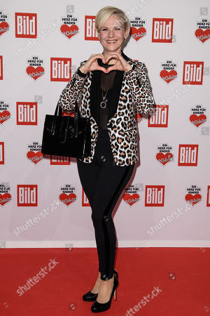 German actress Andrea Kathrin Loewig arrives for the charity gala Ein Herz fuer Kinder (A Heart for Children) in Berlin, Germany, 08 December 2018. German television channel ZDF and newspaper 'Bild' collected donations for children's charity organizations in Germany and the whole world.