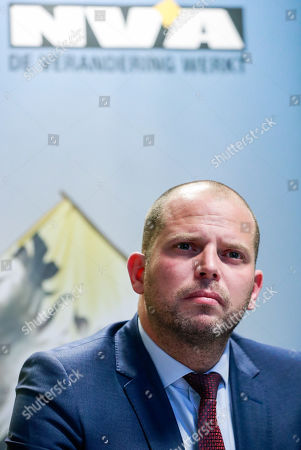 Belgian Secretary of State for Asylum, Migration, member of NVA Party Theo Francken during an NVA's press conference after the NVA left the negotiation during a Minister Council in Brussels, Belgium, 8 December 2018. The NVA threatens to leave the Belgian government if Prime Minister Charles Michel goes to Marrakesh to defend the UN migration pact.
