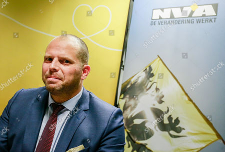 Belgian Secretary of State for Asylum, Migration, member of NVA Party Theo Francken during an NVA's press conference after the NVA left the negotiation during a Minister Council in Brussels, Belgium, 08 December 2018. The NVA threatens to leave the Belgian government if Prime Minister Charles Michel goes to Marrakesh to defend the UN migration pact.