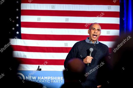 Cory Booker post-midterm election victory celebration, Manchester