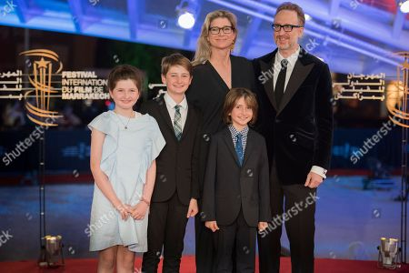 James Gray, his wife Alexandra Dickson and their children attend the Closing Ceremony of the 17th Marrakech International Film Festival, in Marrakesh, Morocco, 08 December 2018. The festival runs from 30 November to 08 December.