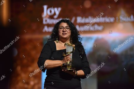 Stock Picture of Sudabeh Mortezai, awarded Etoile D'or during the Closing Ceremony of the 17th Marrakech International Film Festival, in Marrakesh, Morocco, 08 December 2018. The festival runs from 30 November to 08 December.