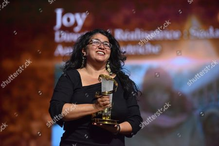 Stock Image of Sudabeh Mortezai, awarded Etoile D'or during the Closing Ceremony of the 17th Marrakech International Film Festival, in Marrakesh, Morocco, 08 December 2018. The festival runs from 30 November to 08 December.
