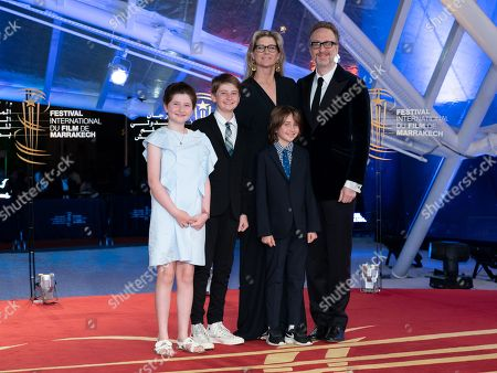 James Gray, his wife Alexandra Dickson and their children
