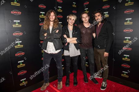 Joey Morrow, Josh Katz, Anthony Sonetti, Alex Espiritu. Joey Morrow, from left, Josh Katz, Anthony Sonetti and Alex Espiritu of Badflower poses at the 2018 KROQ Absolut Almost Acoustic Christmas at The Forum, in Inglewood, Calif