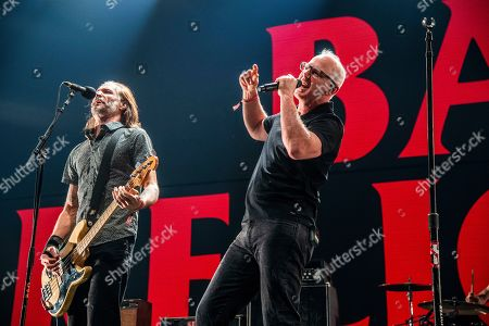 Greg Graffin, Jay Bentley. Jay Bentley, left, and Greg Graffin of Bad Religion performs at the 2018 KROQ Absolut Almost Acoustic Christmas at The Forum, in Inglewood, Calif
