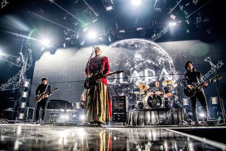 Jeff Schroeder, Billy Corgan, Jimmy Chamberlin, James Iha. Jeff Schroeder, from left, Billy Corgan, Jimmy Chamberlin and James Iha of The Smashing Pumpkins perform at the 2018 KROQ Absolut Almost Acoustic Christmas at The Forum, in Inglewood, Calif