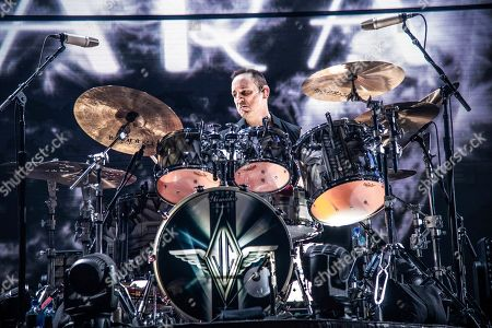Jimmy Chamberlin of The Smashing Pumpkins performs at the 2018 KROQ Absolut Almost Acoustic Christmas at The Forum, in Inglewood, Calif