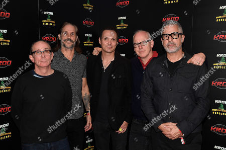 Mike Dimkich, Jay Bentley, Jamie Miller, Greg Graffin and Brett Gurewitz of the band Bad Religion