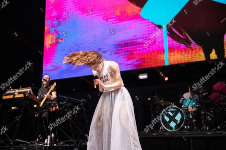 Stock Photo of Chvrches - Lauren Mayberry, Iain Cook