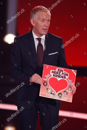 Stock Picture of Johannes B. Kerner during the Ein Herz Fuer Kinder Gala show in Berlin, Germany, 08 December 2018. German television channel ZDF and newspaper 'Bild' collected donations for children's charity organizations in Germany and the whole world.