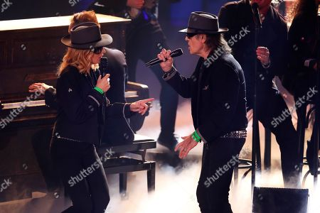 Maria Furtwaengler and Udo Lindenberg during the Ein Herz Fuer Kinder Gala show in Berlin, Germany, 08 December 2018. German television channel ZDF and newspaper 'Bild' collected donations for children's charity organizations in Germany and the whole world.