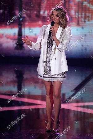 Ella Endlich performs at the Ein Herz Fuer Kinder Gala show in Berlin, Germany, 08 December 2018. German television channel ZDF and newspaper 'Bild' collected donations for children's charity organizations in Germany and the whole world.