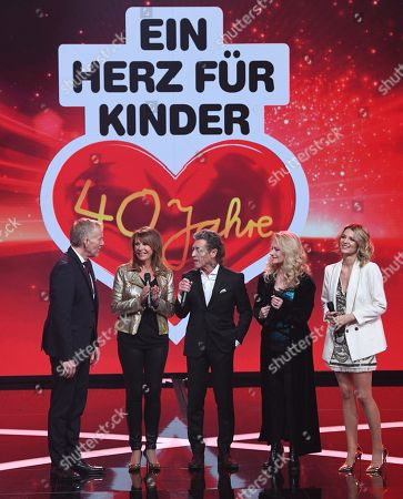 Johannes B. Kerner, Ireen Sheer, German singer Nicole, Ella Endlich and 