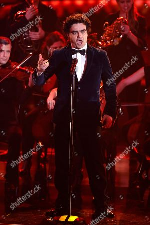 Rolando Villazon performs at the Ein Herz Fuer Kinder Gala show at Studio Berlin Adlershof in Berlin, Germany, 08 December 2018. German television channel ZDF and newspaper 'Bild' collected donations for children's charity organizations in Germany and the whole world.