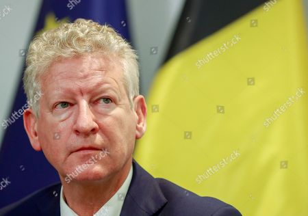 New Belgian Interior Minister Pieter De Crem speaks at a press conference after a Minister Council in Brussels, Belgium, 09 December 2018. Earlier in the day New Flemish Alliance (Nieuw-Vlaamse Alliantie, N-VA) party left the government after Prime Minister Charles Michel announced he will go to Marrakesh to defend the UN migration pact. N-VA will no longer be part of the government. According to reports, Michel has reshuffled his cabinet to replace three ministers from the N-VA who have resigned.