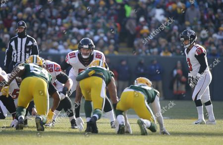 Atlanta Falcons' Matt Bryant kicks during the first half of an NFL football game against the Green Bay Packers, in Green Bay, Wis
