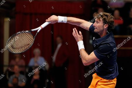Stock Picture of Juan Carlos Ferrero during the Men's Singles Final Champions Tennis match at the Royal Albert Hall, London.