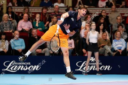 Stock Photo of Juan Carlos Ferrero during the Men's Singles Final Champions Tennis match at the Royal Albert Hall, London.