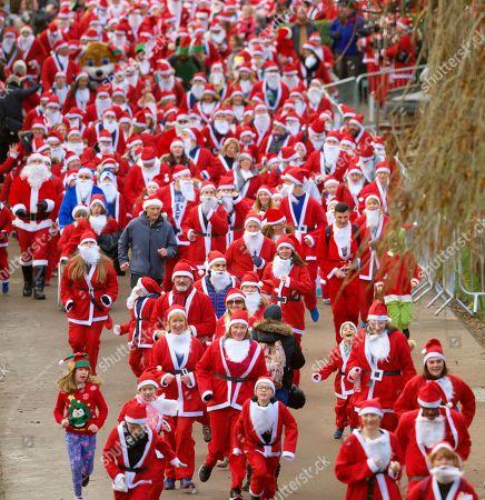 Santa Run, Edinburgh