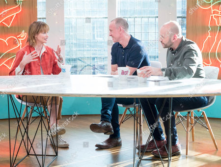 Stock Photo of Sienna Guillory, Tim Lovejoy and Simon Rimmer