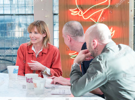 Sienna Guillory, Tim Lovejoy and Simon Rimmer