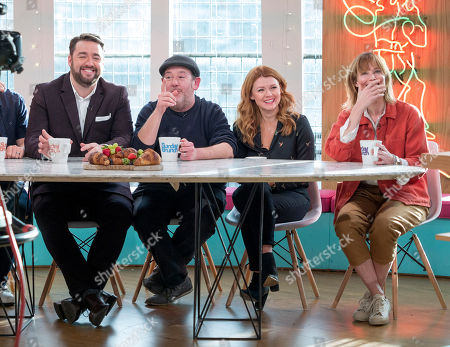 Jason Manford, Johnny Vegas, Sian Gibson and Sienna Guillory