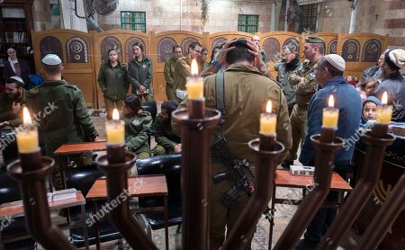 Editorial photo of Jewish holiday of Hanukkah in Hebron, - - 09 Dec 2018