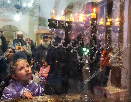 Editorial image of Jewish holiday of Hanukkah in Hebron, - - 09 Dec 2018