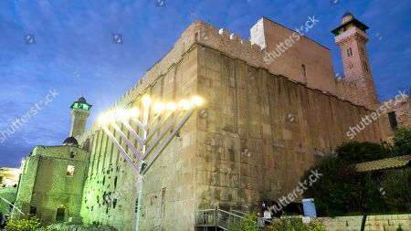 Editorial picture of Jewish holiday of Hanukkah in Hebron, - - 09 Dec 2018