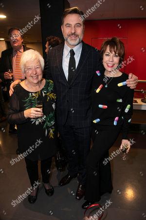 Kathleen Williams, David Walliams and Kathy Lette