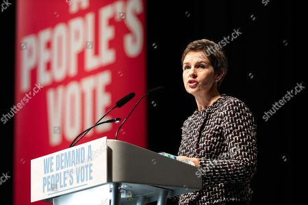 Mary Creagh MP speaking at a joint political rally calling for a second referendum and people's vote by anti Brexit groups, Best for Britain and the People's Vote campaign, held at the ExCel Centre