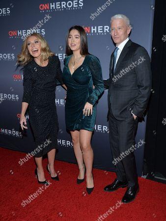 Stock Photo of Kelly Ripa, Lola Consuelos, Anderson Cooper