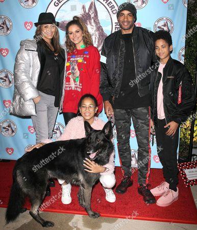 Boris Kodjoe, Maria Menounos, Nicole Ari Parker and family