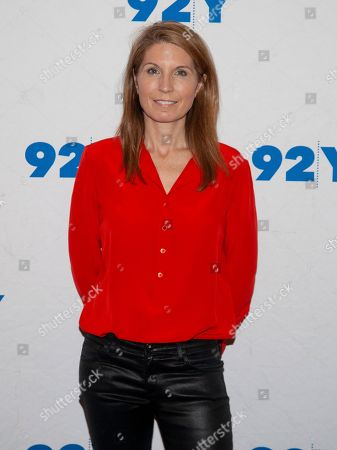 Stock Image of Nicolle Wallace poses backstage at the 92nd Street Y, in New York
