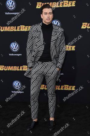 """Pierson Fode attends the LA premiere of """"Bumblebee"""" at TCL Chinese Theatre, in Los Angeles"""