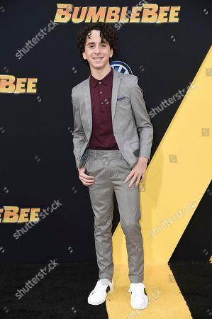 """Jason Drucker attends the LA premiere of """"Bumblebee"""" at TCL Chinese Theatre, in Los Angeles"""