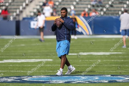 Stock Image of Los Angeles Chargers Kyle Wilson before the Cincinnati Bengals vs Los Angeles Chargers at Stubhub Center in Carson, Ca on , 2018. (Photo by Jevone Moore)