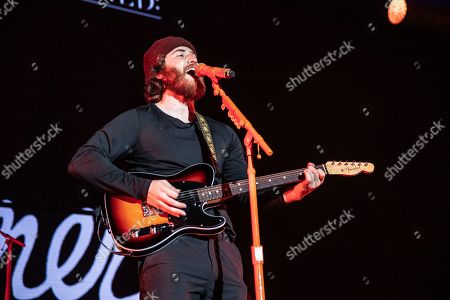 Mike Posner performs at the 2018 KROQ Absolut Almost Acoustic Christmas at The Forum, in Inglewood, Calif