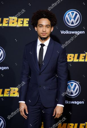 Jorge Lendeborg Jr. poses during arrivals for the world premiere of 'Bumblebee' in Hollywood, California, USA, 09 December 2018.