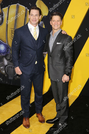 Stock Photo of Brian Goldner and John Cena