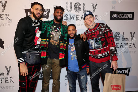Stock Picture of JaVale McGee, Anthony Anderson, Luke Walton